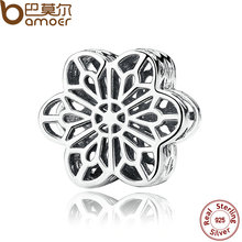 Buy BAMOER 925 Sterling Silver Floral Daisy Lace Silver Charms Fit Bracelet Beads Jewelry Making PAS287 for $5.74 in AliExpress store