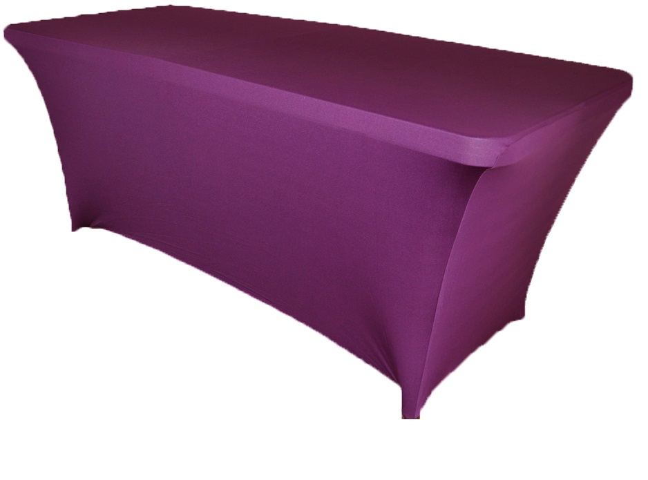 10pcs rectangular spandex table cover 6 ft purple in for 10 ft table cloth