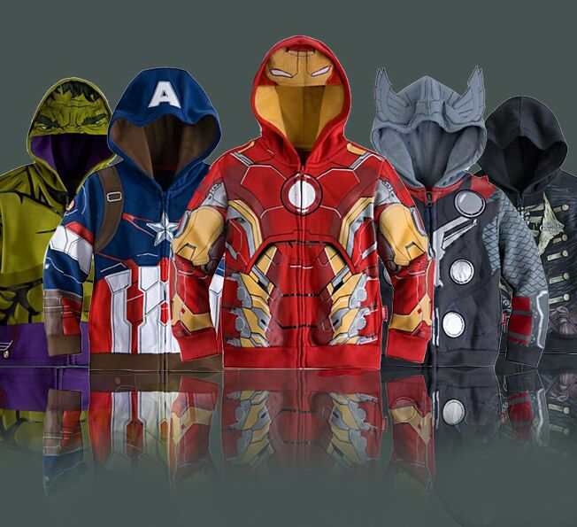 3-10T Boy's Thor Casual Jacket&Coat,Baby Boy's The avengers Cosplay Coat Kids Iron man Casual jackets.baby hoodies Free shiping(China (Mainland))