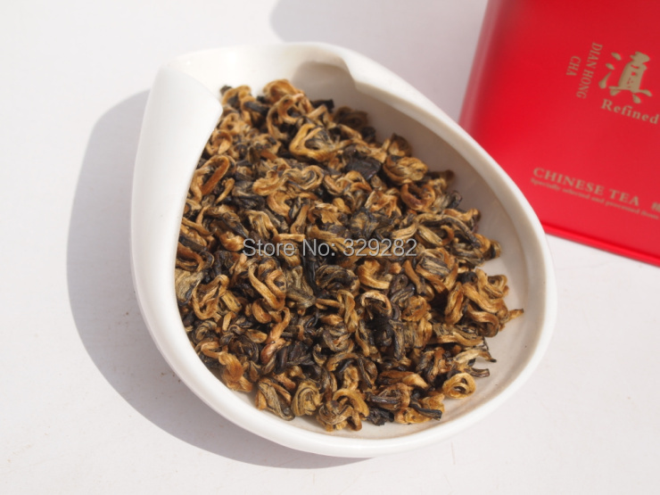 100g jinjunmei, Dian Hong, AAAA curly Jin Jun mei,Yunnan Black Tea,Free Shipping(China (Mainland))