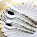 4pcs lot Royal Type High Quality Stainless Steel Dinnerware Set Western Tableware Set With Spoon Fork