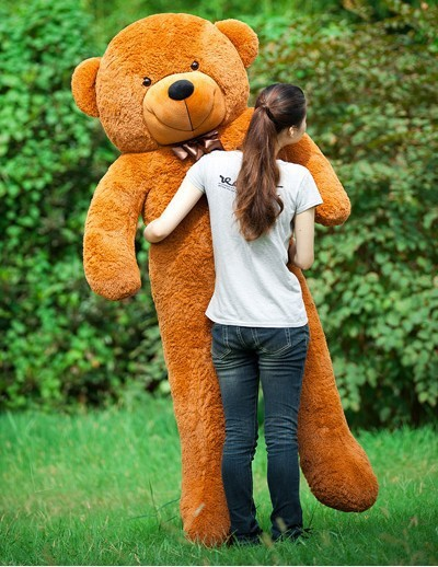 160CM/180CM/200CM/220CM huge giant teddy bear big animals plush stuffed toys life size kid dolls girls toy gift 2015 New arrival(China (Mainland))
