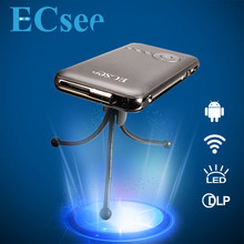 New Arrival ECsee M6 Household HD Entertainment LED Mini Portable 1080P Home theater projecting camera USB LED Projector(China (Mainland))