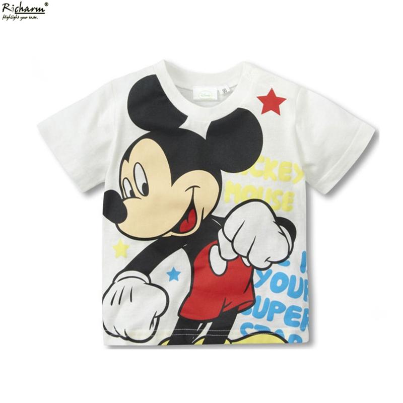 Factory Direct Hot Wholesale Mini Rodini Kids Top Mickey Kid T Shirt Minnie Mouse Boys Clothing Cotton Short Sleeve Tee Shirts(China (Mainland))