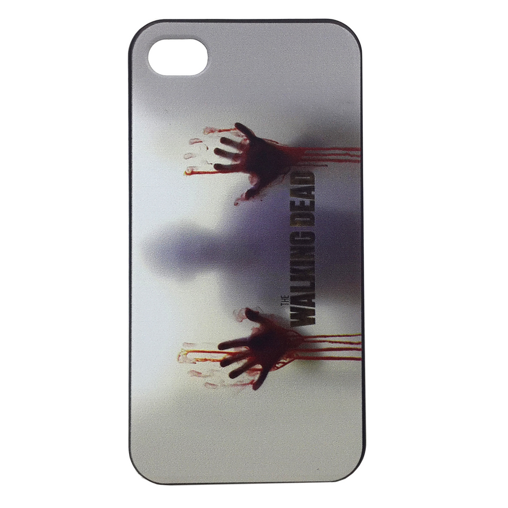 For iPhone 4S Case Walking Dead Painting Plastic Case for iPhone 4s / for iPhone 4 FREE SHIPPING(Hong Kong)