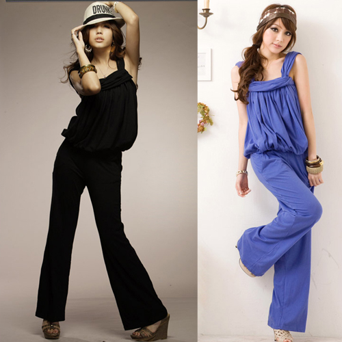 Fashion mm slim jumpsuit wide leg pants loose trousers female plus size 2014 - jim yue's store