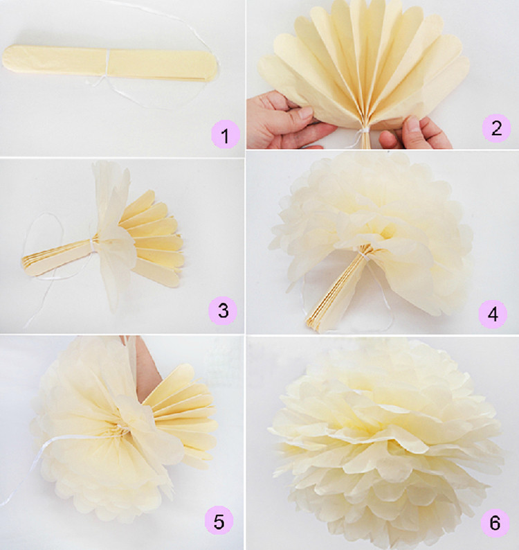 20cm 8 inch 27 color DIY and colorful paper flowers ball wedding party hotel and home