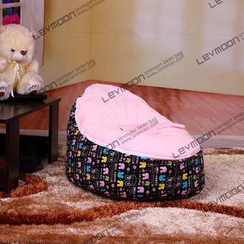 FREE SHIPPING bean bag with 2pcs bright pink up cover baby bean bag chair baby bean bag bed lounger sofa stool(China (Mainland))