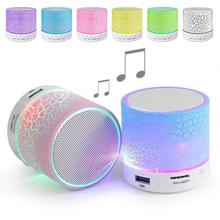 Buy Portable Mini Flashing LED Bluetooth Speakers Wireless Small Music Audio TF USB FM Stereo Sound Speaker Phone Mic for $8.35 in AliExpress store
