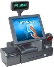 Точки продажи 15 ''высокое качество pos терминал pos системы все в одном кассовом аппарате с сканер принтер наличными ящик(China (Mainland))