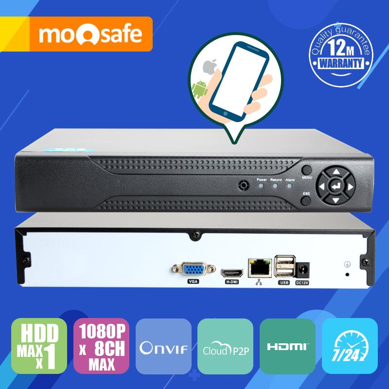 NVR 8CH 1080P Input H.264 Digital Network Video Recorder Compatible Onvif Camera P2P cloud service VGA/HDMI Output(China (Mainland))