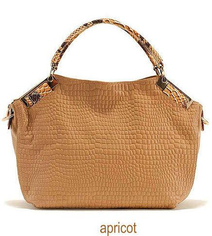 Clearance Sale Fashion Women Handbags Grace Genuine Leather Handbag Bags Classic Lady Crocodile Shoulder Bags Tote(China (Mainland))