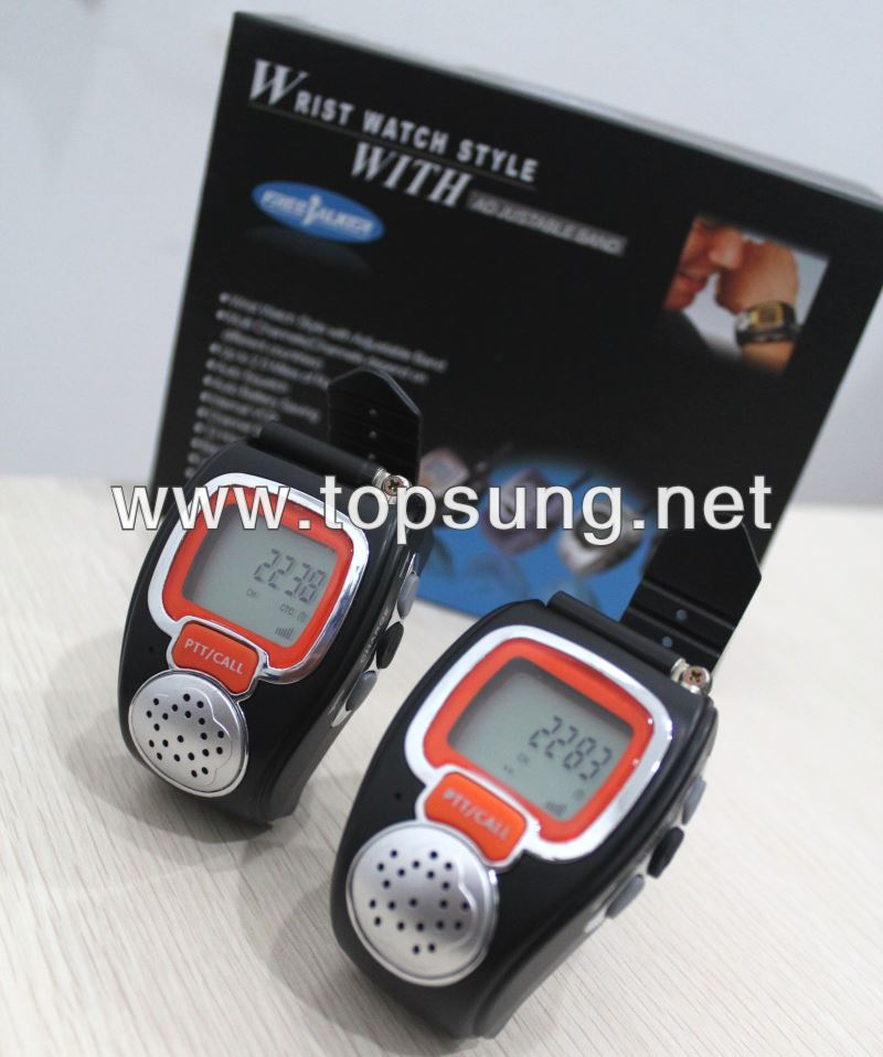 2pc freetalker 22 channel wrist watches walkie talkie set for kids ts008 walky talky watches up to 3 mile (new version 121 code)(China (Mainland))