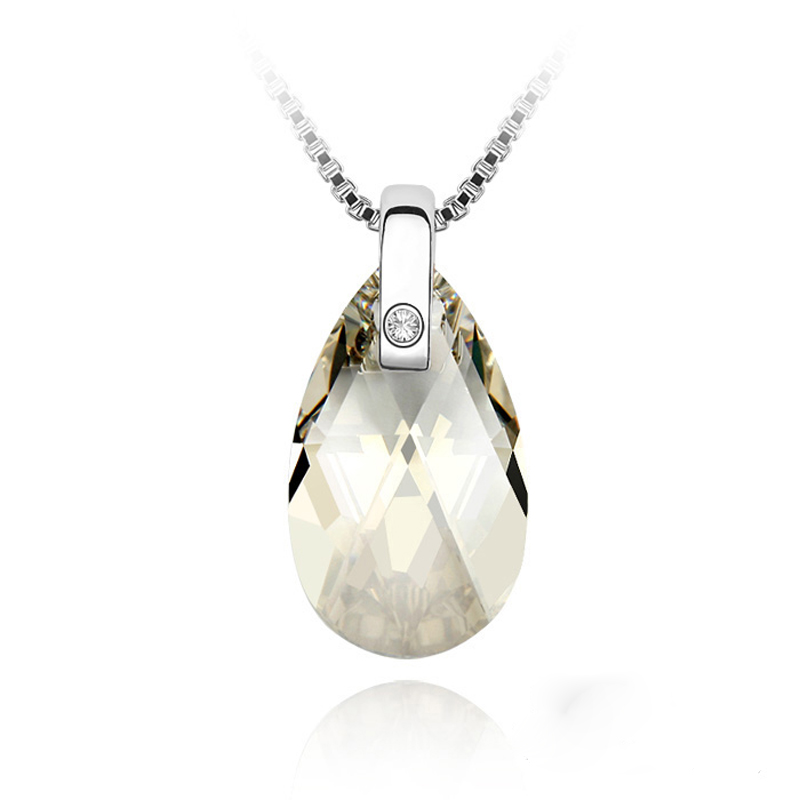 100% Original Crystals From Swarovski Elements Necklace for Women Wedding Jewelry Party Gift(China (Mainland))