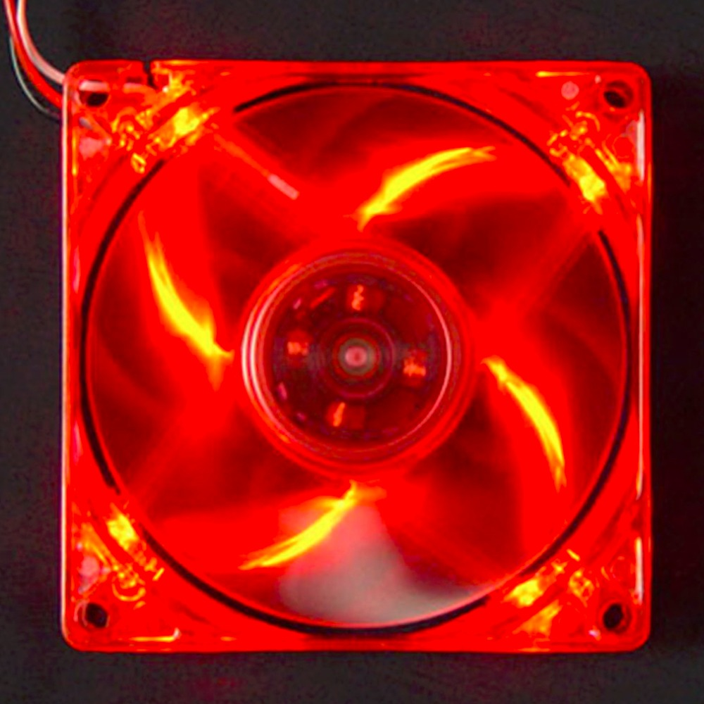 2016 New 12cm PC Computer Clear Case Quad 4 Red LED Light 9-Blade CPU Cooling Fan 12V Wholesale(China (Mainland))