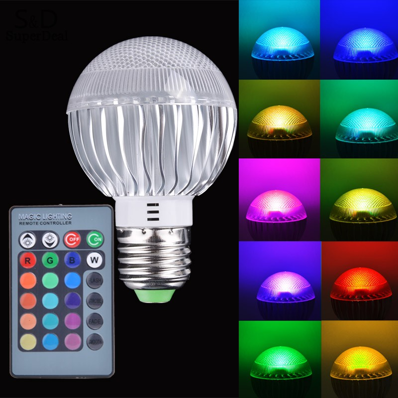new home use e27 15w rgb aluminum led light color changing lamp bulb. Black Bedroom Furniture Sets. Home Design Ideas