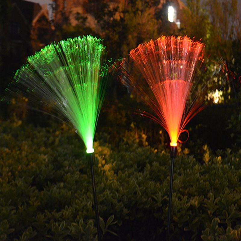 fiber optic colorful changing waterproof garden light led solar light. Black Bedroom Furniture Sets. Home Design Ideas