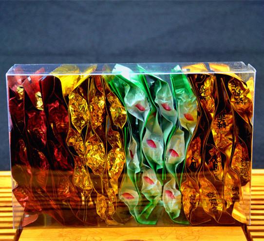 Премиум 36 шт. 4 Различных Вкусов Китайский пуэр Tieguanyin Улун, женьшень Biluochun Чай Gree Пищу Для Здравоохранения