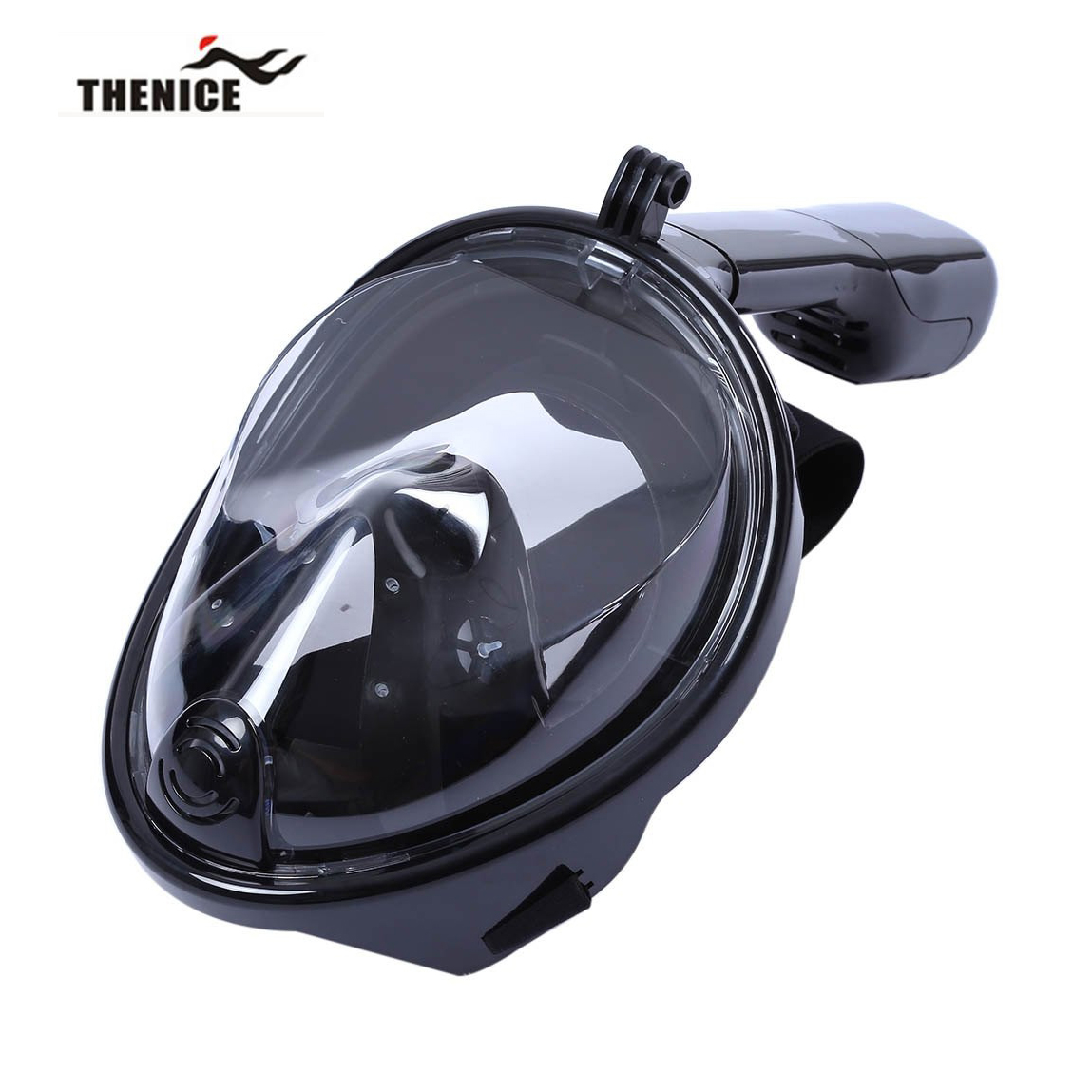 THENICE Scuba Diving Mask Snorkel Dry Snorkeling Swimming Underwater Sport Equipment Full Face Easy Breath Anti Fog Hot sale(China (Mainland))