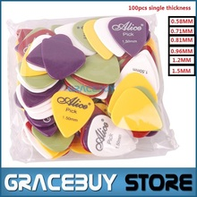 100pcs Single Thickness Guitar Picks ABS Smooth Mediator Plectrum Puas Guitarra Palheta Musical Instrument(China (Mainland))