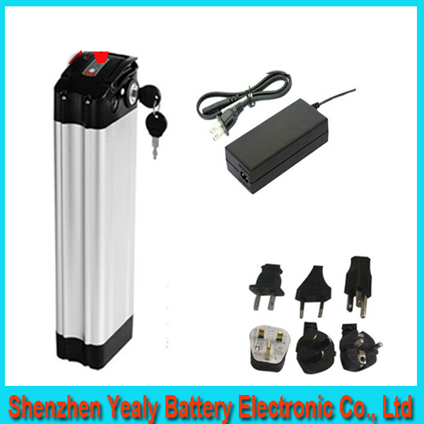 Hot sales Top discharge 24v 20ah lithium ion ebike battery aluminium case bicycle electric bike battery 24v 300w with charger(China (Mainland))