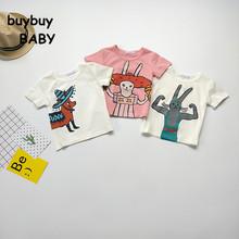 2017 Bobo Choses Cotton Kids T-shirts Boys Girls Cartoon Rabbit Children t shirt 1~7Y Baby Clothes Tops Tees Summer Party Animal(China (Mainland))