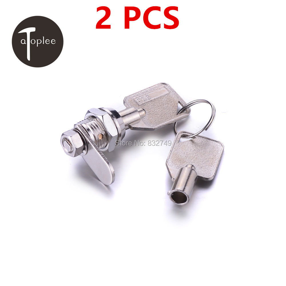 New Sale 2 PCS Zinc Alloy Mechanical Lock Travel Luggage Suitcase Furniture Cabient Door Lock Pick With 4 Keys(China (Mainland))