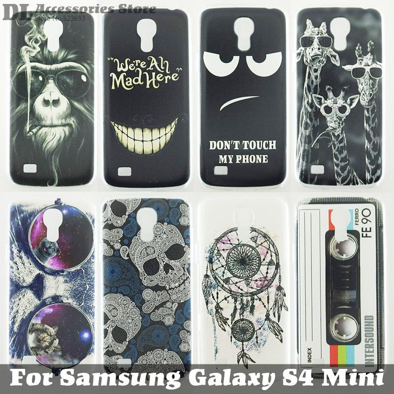 Гаджет  Case For Samsung Galaxy S4 Mini Colorful Printing Drawing Transparent Plastic Hard Phone Cover for Samsung i9190 Hot Sale 1120 None Телефоны и Телекоммуникации
