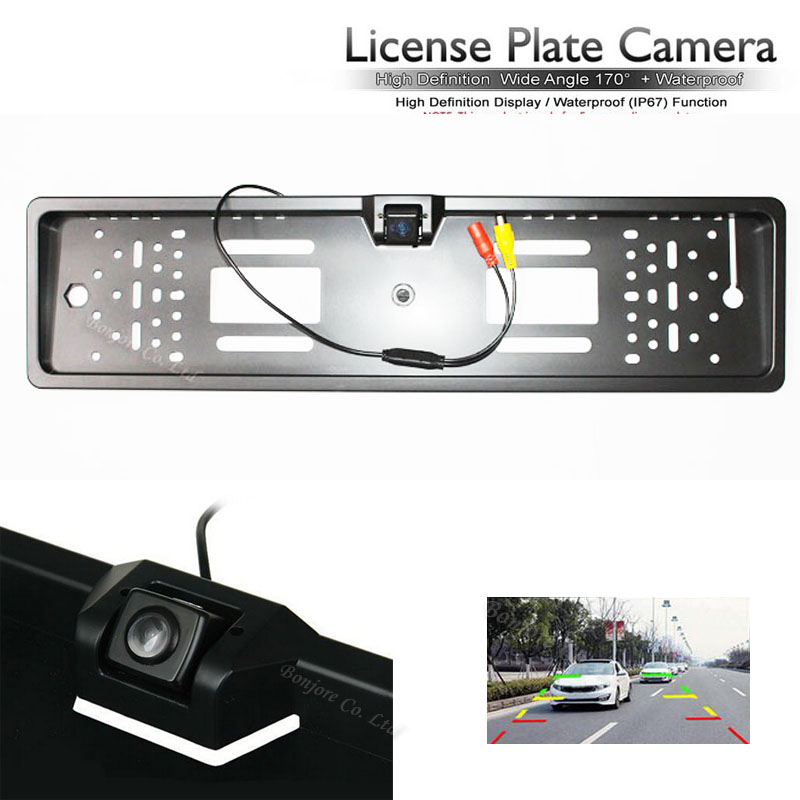 Wholesale Car Rear View Camera Backup License Plate Frame Parking Reverse Camera back up Cam Parking Assistance connect to DVD(China (Mainland))