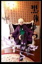 Free shipping New Black Butler Season 2 Earl Alois Trancy cosplay costume gift bow and stocking