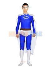 ECO Man Superhero Costume the most popular Spandex & Metallic halloween cosplay Man costume zentai suit  free shipping