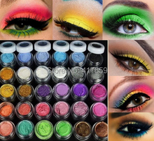 New Arrival Colorful 30 Colors Eye Shadow Powder Makeup Mineral Eyeshadow + brush Pigment