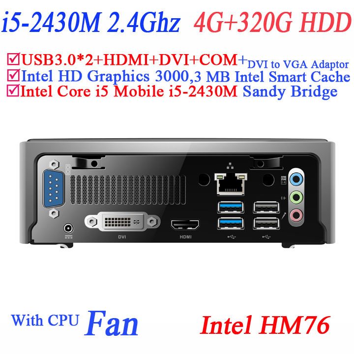 Здесь можно купить  small form factor PC computer i5 processor with Sandy Bridge Intel Core i5 Mobile i5-2430M 4G RAM 320G HDD DVI HDMI COM USB 3.0  Компьютер & сеть