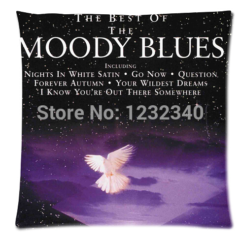 The Best Of The Moody Blues Style throw Pillowcase Custom 18x18 Inch (Twin Sides)Home Car Cushion Cover(China (Mainland))