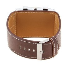2016 Hot Selling Fashion Luxury Clock men Brown Leather Strap Watch Men Big Pointer Dial Casual