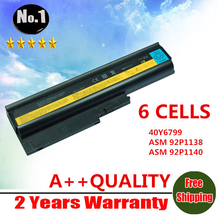 Wholesale New 6Cells Laptop Battery For IBM ThinkPad R60 R60e R61 T60 R61e R500 T500 W500 SL300 SL400 SL500 Free shipping(China (Mainland))