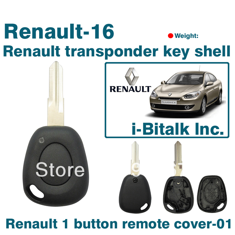 renault 1 button replacement car key duster clio remote shell case cover blank keychain in tire. Black Bedroom Furniture Sets. Home Design Ideas