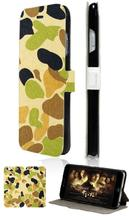 Hot selling camo pattern hybrid retail 5designs card wallet leather cases for IPHONE4 4S mobile phone bag free shipping