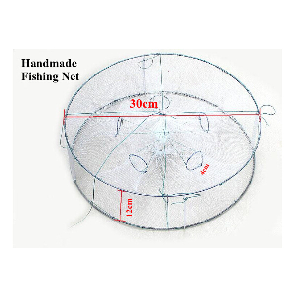 30cm 30cm 12cm fish trap small round fishing net with for Small fishing net