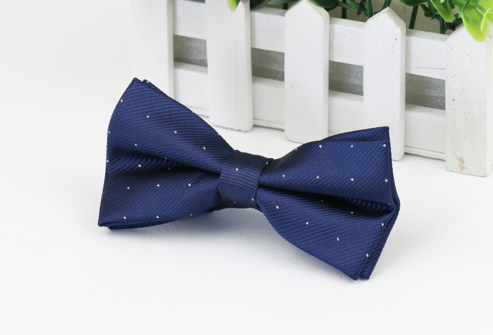 Classical Adjustable Navy Blue Bow Tie Mens For Wedding Adults Tuxedo Butterfly Gravat Free Shipping(China (Mainland))