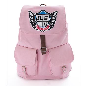 SNSD Girls' Generation pink rucksack knapsack travelling bag schoolbag