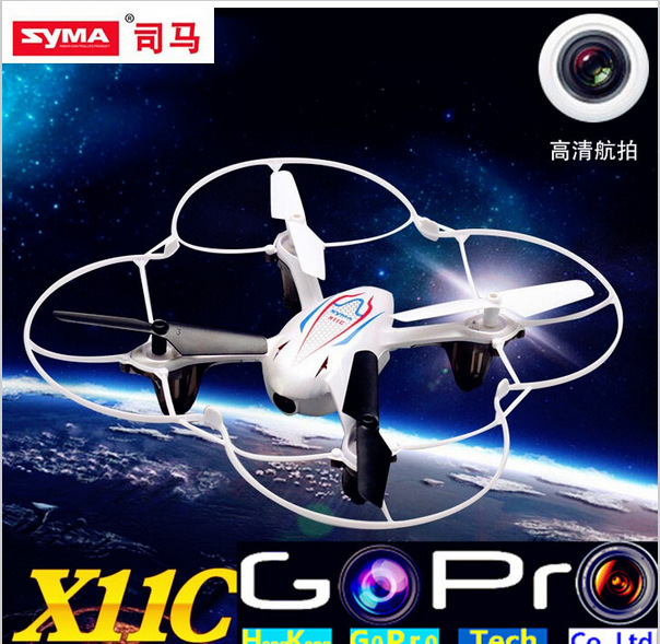 Syma X11C HD Camera RC Quadcopter 4 Channel 2.4GHz 6-Axis Gyro Remote Control Helicopter with Flash Lights or Syma X11 No Camera(China (Mainland))
