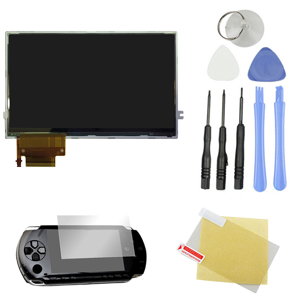 Free shipping New Original LCD Display Screen Backlight Replacement For SONY PSP 2000 2001 Series+ 8 Tools With protection film(China (Mainland))