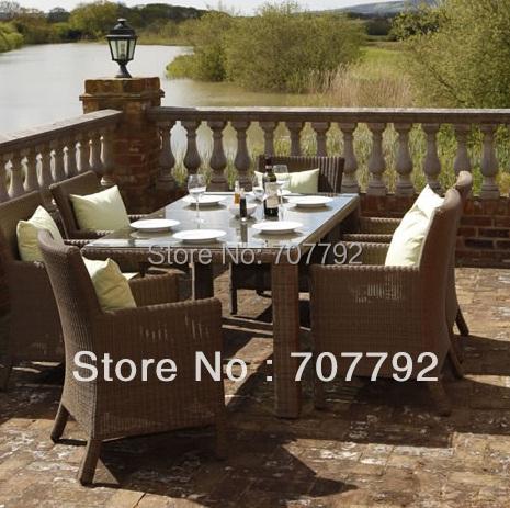new6 seater rattan dining garden furniture set
