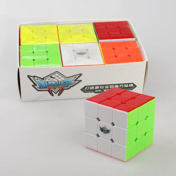 Cyclone Boys Magic Cube cubos magicos No Sticker Stickerless 3x3 Speed 3x3x3 Puzzle Educational Toy Special Toys(China (Mainland))