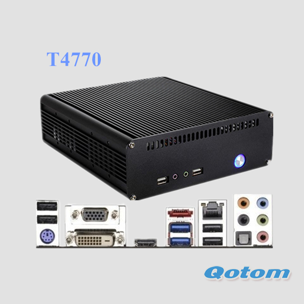 "barebone mini pc i7 QOTOM-T4770 with intel core i7-4770 processor onboard,support up to 16GB DDR3 RAM and 128GB SSD / 2.5""HDD(China (Mainland))"