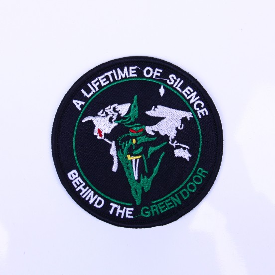 USAF Black OPS AREA 51 A Lifetime Of Silence Behind The Green door Military SPACE Intelligence Patch Velcro(China (Mainland))
