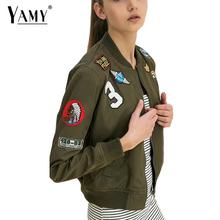 Buy 2017 autumn stand collar embroidered bomber jacket women Army green flight suit jaqueta feminina biker outwear women coat for $22.09 in AliExpress store