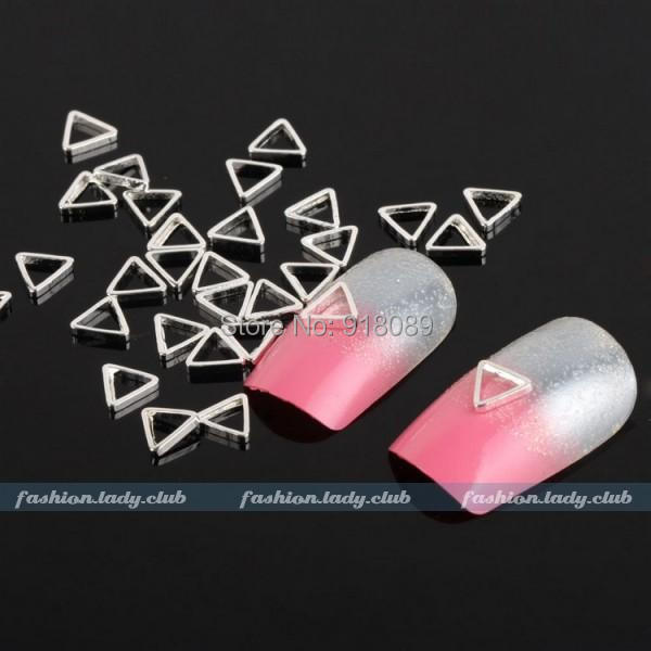 / Nail Supplier,104mm Metal Silver Triangle 3D DIY Acrylic Art Care,UV Gel Polish Manicure Tool - Hill Chow's store