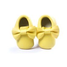 Soft Bottom Fashion Tassels Baby Moccasin Newborn Babies Shoes PU leather Prewalkers Boots(China (Mainland))